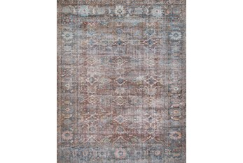 """2'4""""x9'5"""" Rug-Magnolia Home Lucca Brick/Ocean By Joanna Gaines"""