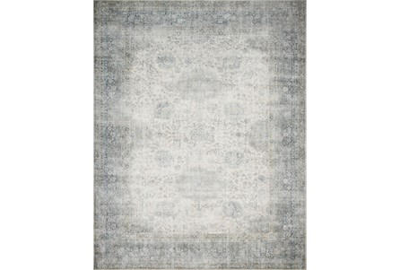 27X45 Rug-Magnolia Home Lucca Mist/Ivory By Joanna Gaines