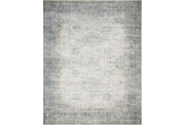 27X45 Rug-Magnolia Home Lucca Mist/Ivory By Joanna Gaines  - 360