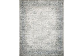 """2'5""""x9'5"""" Rug-Magnolia Home Lucca Mist/Ivory By Joanna Gaines"""