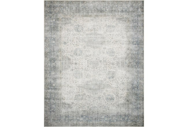 """2'5""""x9'5"""" Rug-Magnolia Home Lucca Mist/Ivory By Joanna Gaines - 360"""