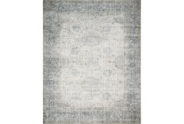 90X114 Rug-Magnolia Home Lucca Mist/Ivory By Joanna Gaines