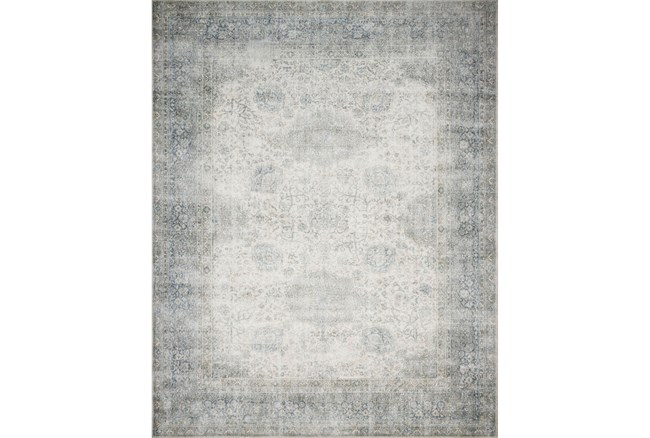 """7'5""""x9'5"""" Rug-Magnolia Home Lucca Mist/Ivory By Joanna Gaines - 360"""