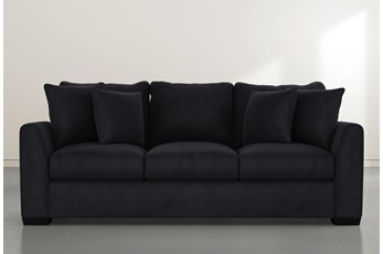 Sheldon II Dark Grey Velvet Sofa