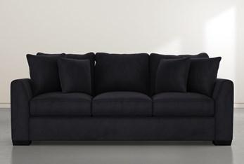 """Sheldon II 98"""" Dark Grey Velvet Sofa"""