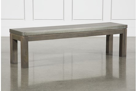 Galvanized Dining Bench