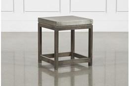 Galvanized Square End Table