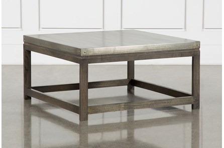 Galvanized Square Coffee Table