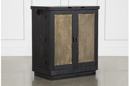 Brass Front Bar Cabinet
