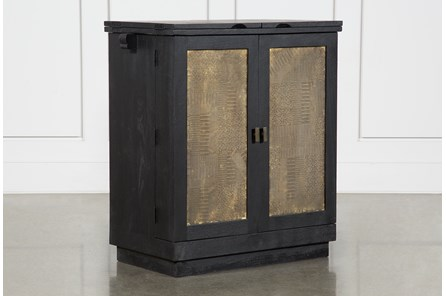 Brass Front Bar Cabinet - Main
