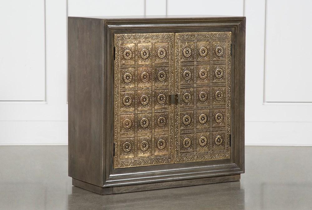 Brass Front 2 Door Cabinet