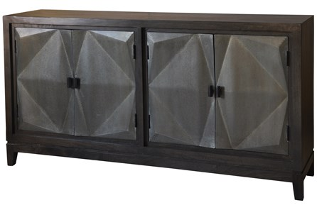 3D Galvanized 4 Door Sideboard