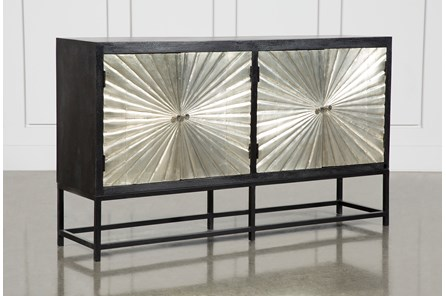 Silver 4 Door Sunburst Sideboard