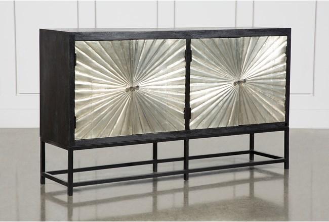Silver 4 Door Sunburst Sideboard  - 360