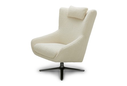Ivory Sherpa Wing Chair