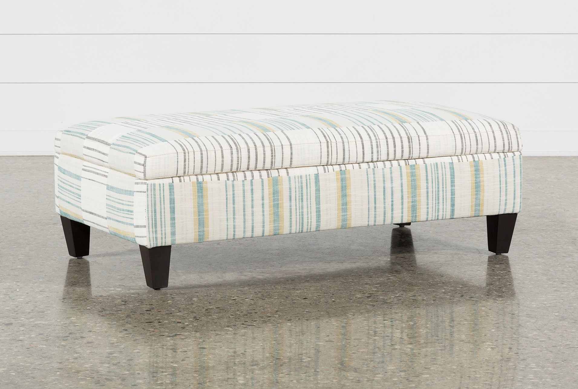 Perch Fabric Medium Rectangle Storage Ottoman Living Spaces