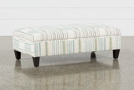 Perch Fabric Medium Rectangle Storage Ottoman