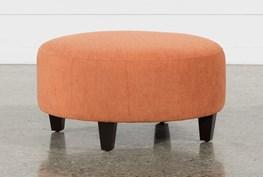 Perch Fabric Medium Round Ottoman