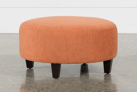 Perch Fabric Medium Round Ottoman