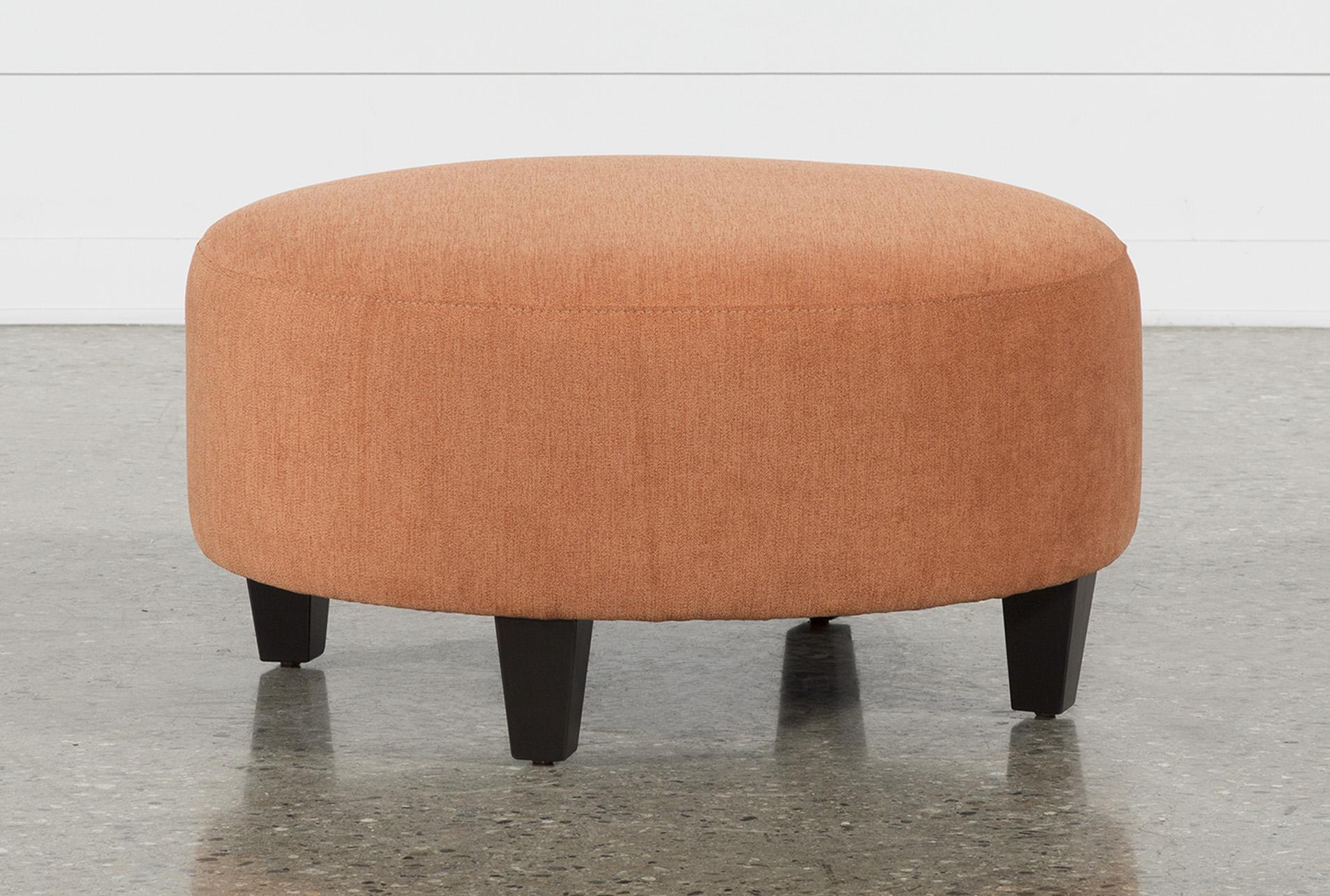 Bon Perch Fabric Medium Round Ottoman   360