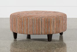 Perch Fabric Large Round Ottoman