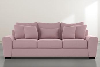 """Parker II Pink Velvet 101"""" Queen Sleeper"""