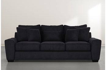 "Parker II 101"" Dark Grey Velvet Sofa"