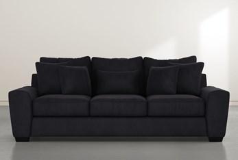 "Parker II 101"" Dark Grey Velvet Sofa"