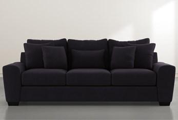 """Parker II Black Velvet 101"""" Sofa"""
