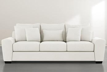 """Parker II White 101"""" Sofa"""