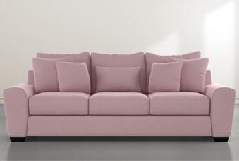 """Parker II Pink Velvet 101"""" Sofa"""