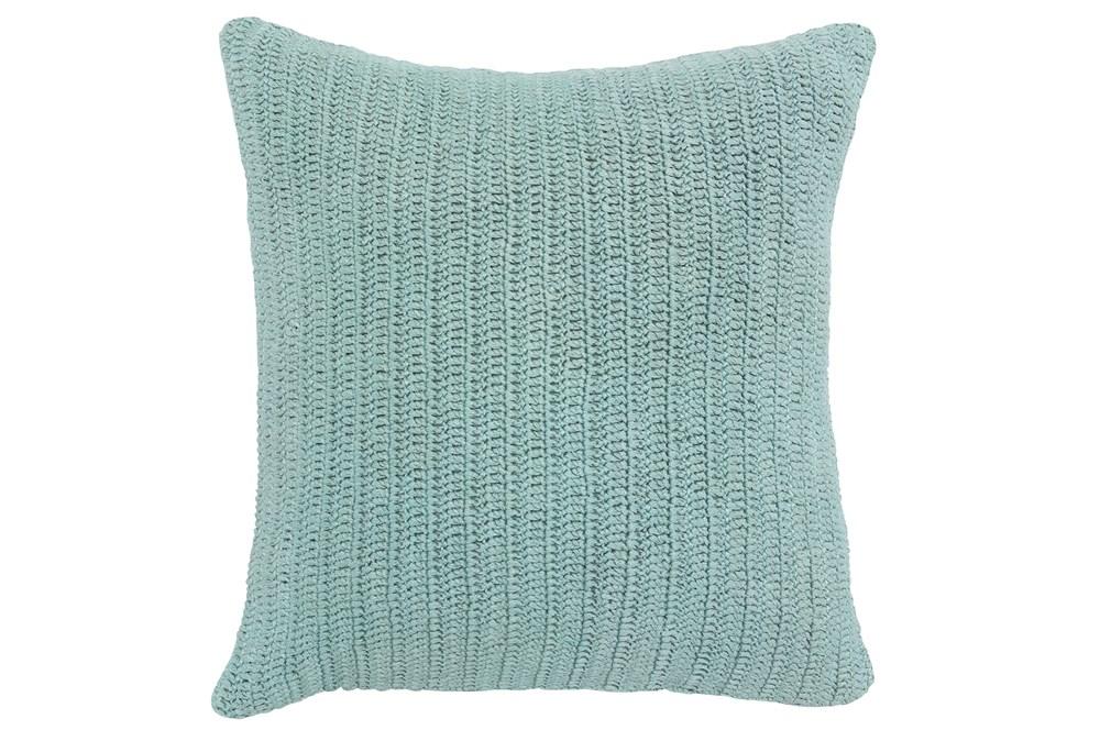 Accent Pillow-Knit Solid Aqua 22X22
