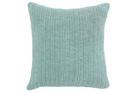 Accent Pillow-Knit Solid Aqua 22X22