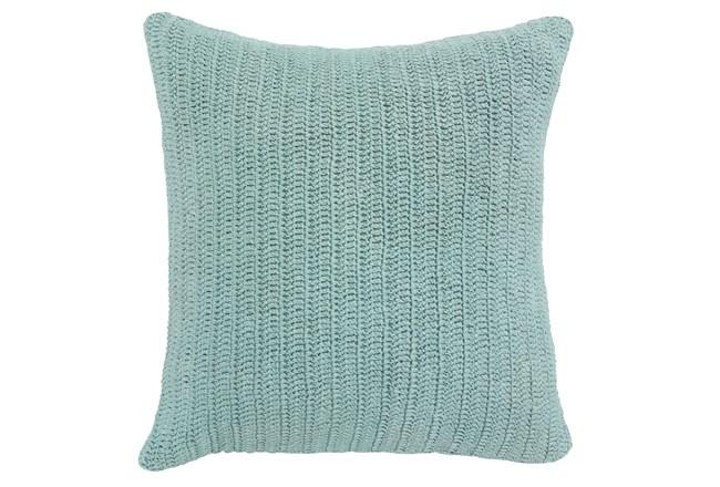 Accent Pillow-Knit Solid Aqua 22X22 - 360