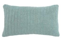 Accent Pillow-Knit Solid Aqua 14X26