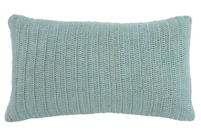 Accent Pillow-Knit Solid Aqua 14X26 - 360