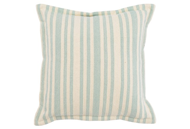 Accent Pillow-Linen And Taupe Stripe 20X20 - 360
