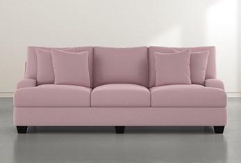 Sierra Foam III Pink Velvet Sofa