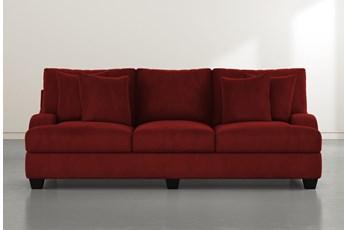 Sierra Foam III Burgundy Velvet Sofa