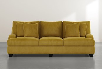 Sierra Foam III Gold Velvet Sofa