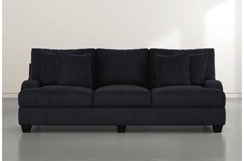 Sierra Foam III Dark Grey Velvet Sofa