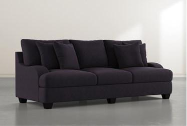 """Sierra Black Velvet Foam III 95"""" Sofa"""