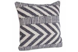 Accent Pillow-Grey Wool Chevron 22X22