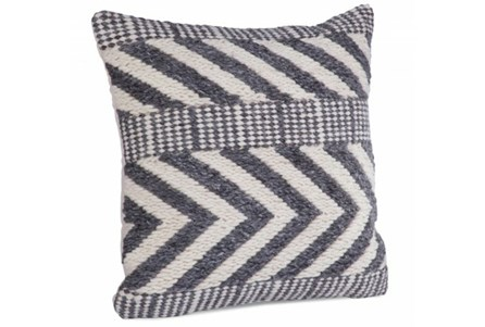 Accent Pillow-Grey Wool Chevron 22X22
