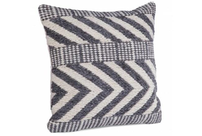 Accent Pillow-Grey Wool Chevron 22X22 - 360