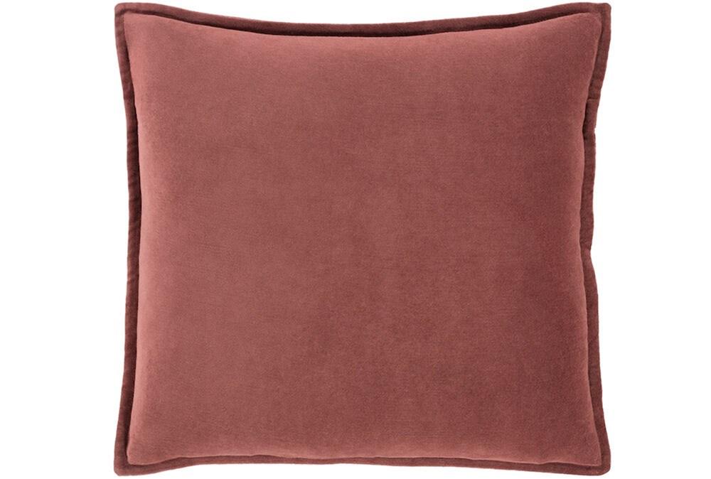 Accent Pillow-Sienna Velvet Flange 18X18