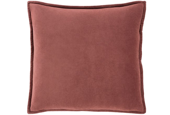 Accent Pillow-Sienna Velvet Flange 18X18 - 360