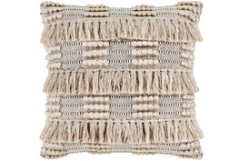 Accent Pillow-Taupe Fringe Checks 18X18