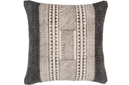 Accent Pillow-Black And Ivory Print Block 20X20