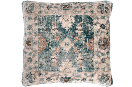 Accent Pillow-Sienna And Jade Traditional Pattern 21X21